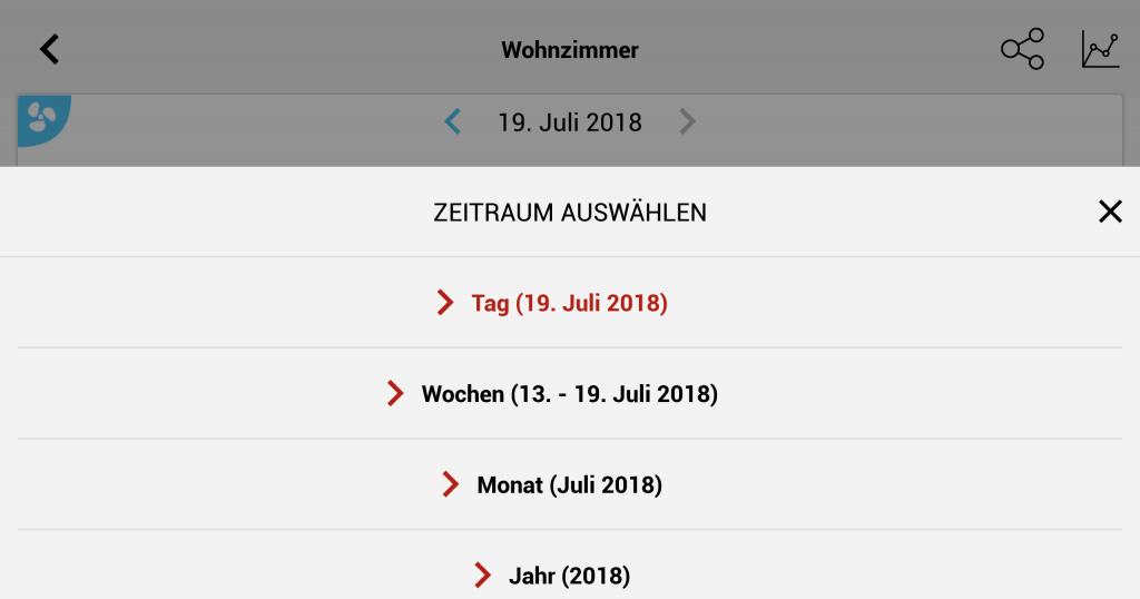 Soehnle Connect App - Zeitraum